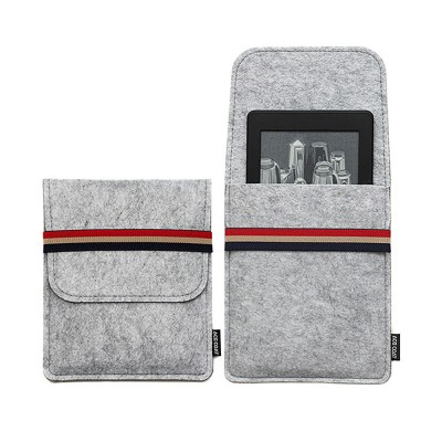Stylish Tablet Laptop Protective Sleeve for Kindle, Soft Smooth Wool Felt Laptop Notebook Bag with Protective Belt
