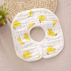 Combed Baby Gauze Cotton Bibs 8 Layers, 360 Rotation Luxury Soft Cotton Bibs for Infants