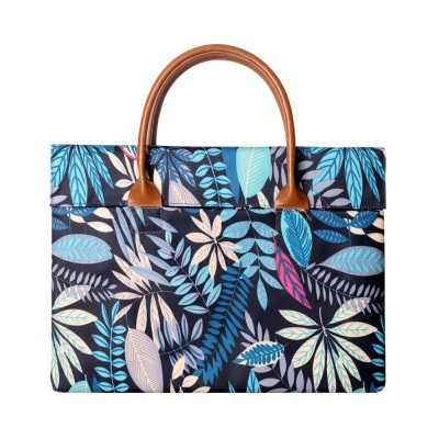 Water-proof Canvas Floral Pattern Laptop Ultrabook Sleeve Chase Bag Cover, Pouch Laptop Bag for Different Size of Computers