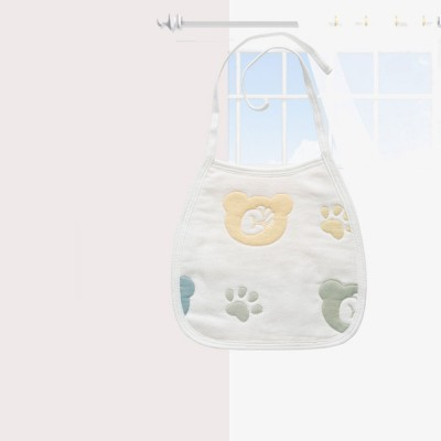 Cartoon Printing Cotton Gauze Baby Bib, Boys Girls Feeding Burp Cloths, Comfortable Newborn Infants Scarf Towel with Lace