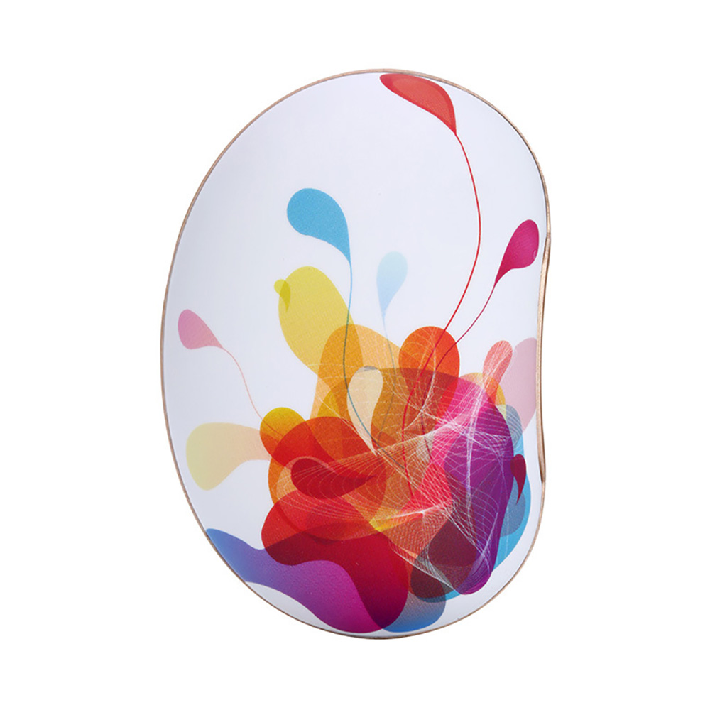 Large Capacity Colorful Vibration Massage Power Bank, USB Rechargeable Flower Pattern Blast-Proof Hand Warmer