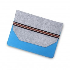 Soft Smooth Imported Wool Felt Tablet Laptop Protective Sleeve, Stylish Laptop Notebook Bag with Protective Belt