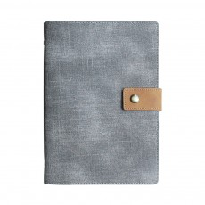 Loose-leaf Magnetic Buckle Notebook, Uncoated Woodfree Paper Binder, Modern Canvas Texture Leather, 160 Pages