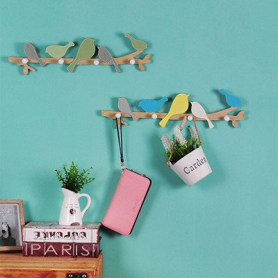 Bird Hang Suit Hook Dressing Room Door Rack, Creative Key Hooks Garments Hanger