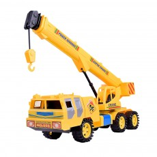 Children's Simulation Crane Engineering Car, Inertial Vehicle Plastic Model Toy Car
