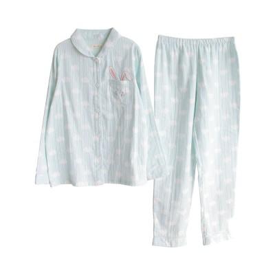 Sleepwear Fashionable Pajamas Set for Girl, Women Soft Long Sleeves Cotton Nightgown