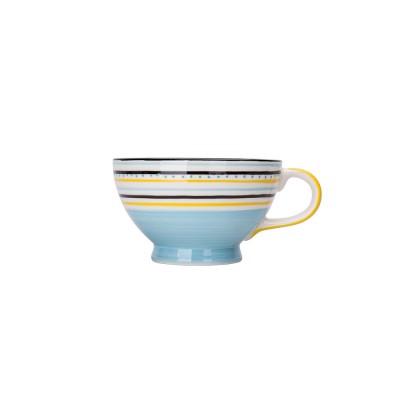 Ceramic Breakfast Mug, Large Capacity Porcelain cup for Water Juice Tea Food