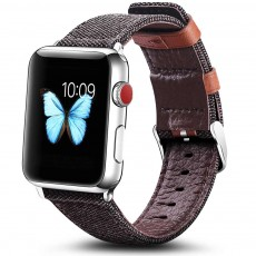 Genuine Leather Apple Watchband Strap with Stainless Steel Watch Buckle for Apple iWatch 1/2/3