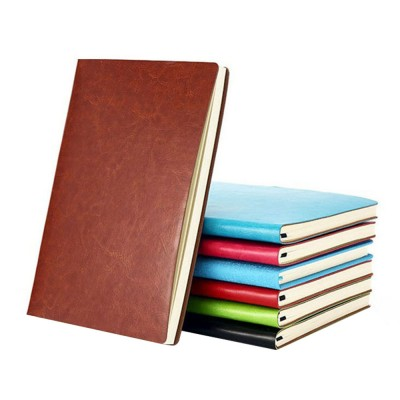 Classical PU Leather A5 Notebook Journal Diary, Uncoated Woodfree Paper Schedule Planner Memo Organizer 200 Pages