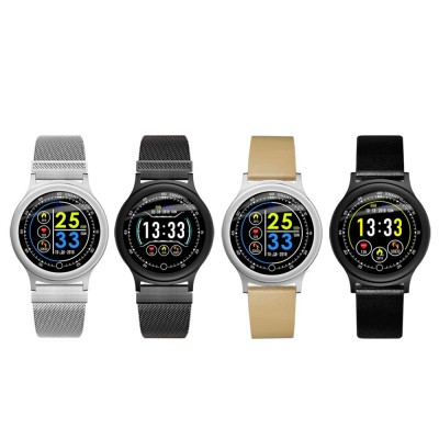 Smart Bracelet with Circle Color Screen for Heart Rate and Sleep Monitoring, Waterproof Business Bracelet
