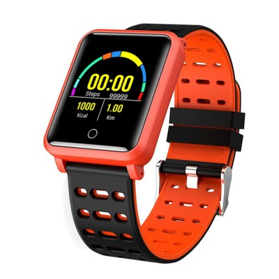 Smart Color Screen Watch for Heart Rate and Blood Pressure with IP68 Waterproof and Anti-loss Multi-movement Bracelet