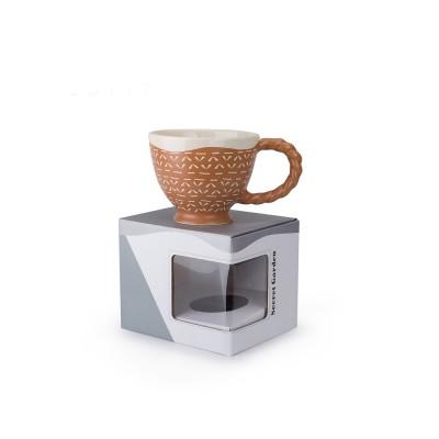 Ceramic Cup Breakfast Round Big Opening Mugs for Home Tea Milk Glazed white Porcelain Mug