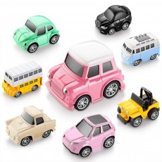 Children Toy Car Pull Back Car Set, Alloy Puzzle Car, Mobilization Q Version Mini Toy Car for Children