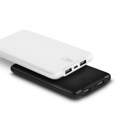 Ultra thin Portable 10000mAh Power Bank, 2.4A Quick Charge Dual USB Output Power Bank