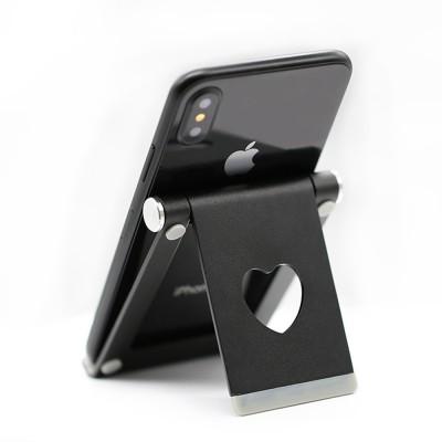 Aluminum Alloy Desktop Phone Holder, Universal Adjustable Foldable Mobile Phone Holder Stand for Live