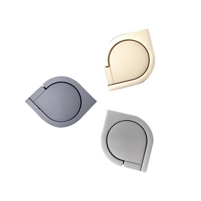 360 ° Rotating Water Droplets Ring Buckle Bracket, Car Metal Finger Buckle Phone Ring Holder