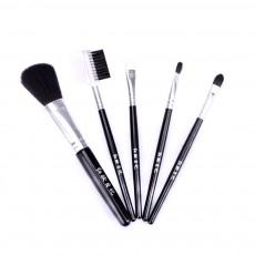 5 Sets of Makeup Brush Set with Texture Handle, Blush Foundation Brush Lips Brush Eyebrow Brush