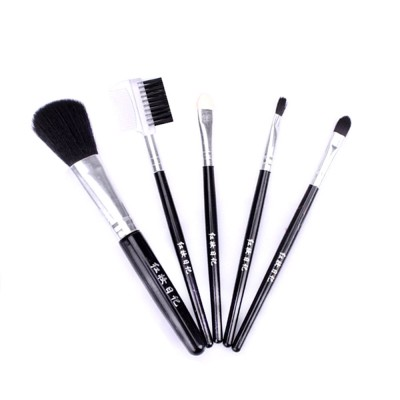 5 Sets of Makeup Brush Set with Texture Handle, Blush Foundation Brush Lips Brush Eyebrow Brush