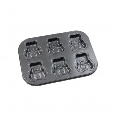 6 Cups Muffin Pan Bread Molds Cake Bakeware, Seashell Bear Shape DIY Chocolate Baking Mould