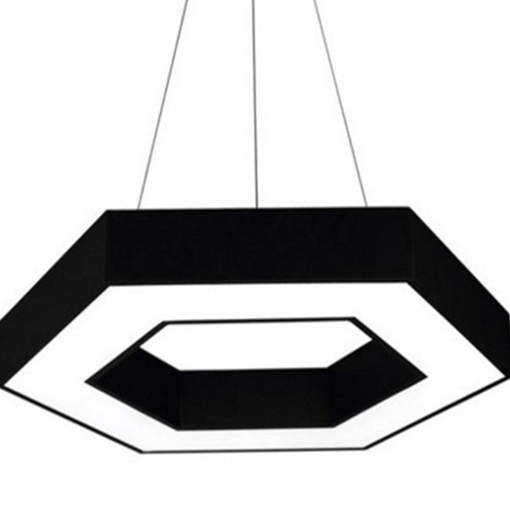 LED Modern Minimalist Chandelier for Company Office, Creative Polygon Combination Art Light