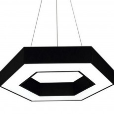LED Modern Minimalist Chandelier for Company Office, Creative Polygon Combination Art Light