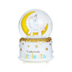 Elegant Snow Globe Ball Music Box With Unicorn Decoration for Children Girls As New Year Birthday Present