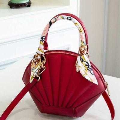 Shell Shaped Jelly Middle Bag, One Shoulder Slanting Matte Zipper Handbag For Ladies
