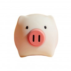Pig Night Light, Ultrasoft Skin-friendly Silicone Piggy Light Present For Girls or Child