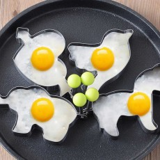 4PCS/Set Omelette Mold, Stainless Steel Cartoon Shape DIY Fried Egg Molds