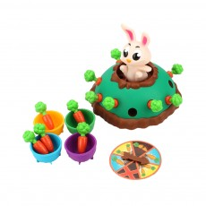 Funny Jumping Rabbit Bounce Carrots Children's Toy, Parent-Child Interactive Tricky Toy