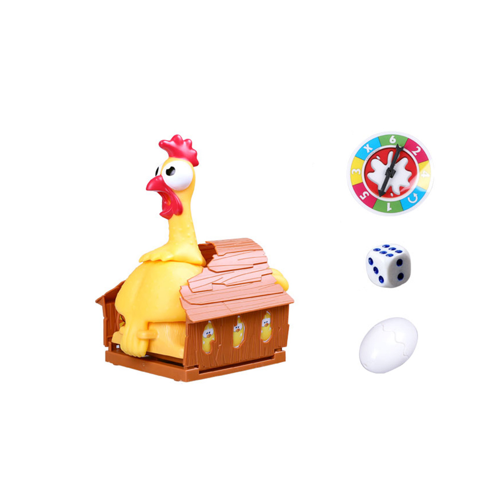 Funny Screaming Egg Laying Chicken Party Games Toy, Parent-child Puzzle Lucky Chicken Sound Toy