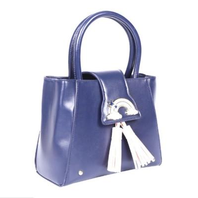 Fashion Female shoulder Bag, Dream Rainbow Decorative Handbag with Adjustable Hand Strap and Metal Zipper