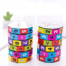 6 Layers Number Mathematical Children Puzzle Magic Cube, Creative Arithmetic Calculation Early Education Toy For Kids