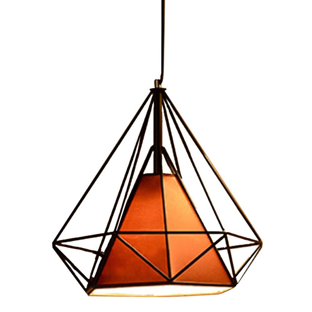 American Retro Three-headed Diamond Chandelier, Creative Wrought Iron Light for Restaurant