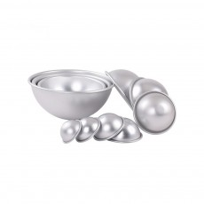 Semi Circle Pastry Mold, Aluminum Alloy DIY Bath Salt Bomb Molds