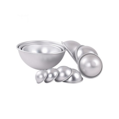 Semi Circle Pastry Mold, Aluminum Alloy DIY Bath Salt Bomb Molds
