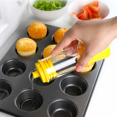 Cooking Oil Bottle With Basting Brush, Heat Resistant Anti-Leak Barbecue Tool