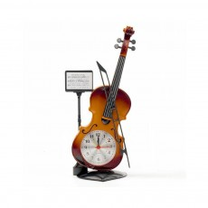 Creative Cello Table Clock, Horological Home Living Room Decoration Graduation Present