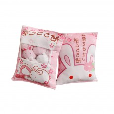 Cute Spout Cherry Blossom Pillow Stuffed Toy Doll, Soft Pocketful Small Toys in A Pillow
