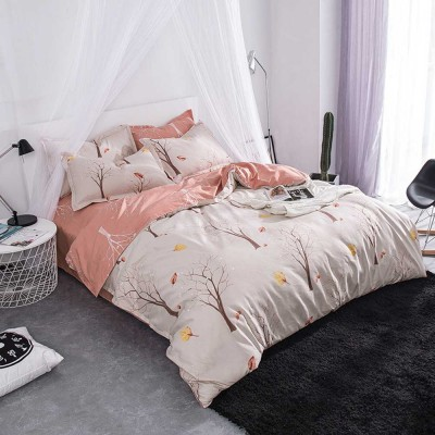 Simple Style Quilt Cover Sheet Pillowcase Bedding Set 4 Pieces