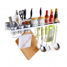 Aluminum Kitchen Rack, Widened Thickened Kitchen Knife Rack Seasoning Storage Hardware Wall Pendant