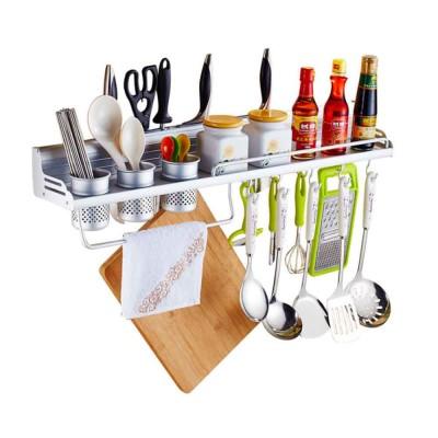 Aluminum Kitchen Rack, Widened Thickened Kitchen Knife Rack Seasoning Storage Hardware Wall Pendant