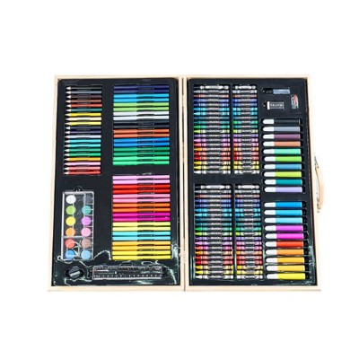 Children's Drawing Set Watercolor Brush Tool Belt Easel Set Painting Supplies Set for Student Learning