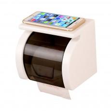 Bathroom Waterproof Toilet Tray Holder, Tissue Box Shelf, Punch-free Roll Holder