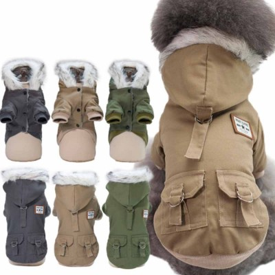 Small Dog Army Clothes, Fashion Warm Military Cotton Small Dog Clothes