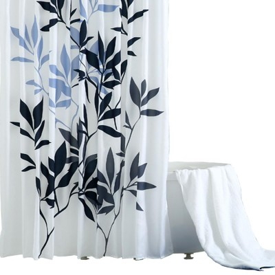 Leaf Print Shower Curtain Polyester Mildew-Proof  Shower Curtain