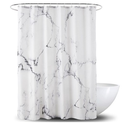 3D Digital Marble Printed Shower Curtain, PA Coated Partition Curtain