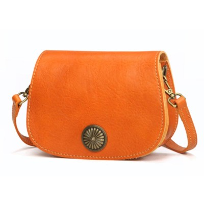 Vegetable Tanned Leather Cross Body Bag, Vintage Leather Satchel Bags