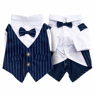 Gentleman Wedding Suit Miniature Pet Clothes with Bow Tie