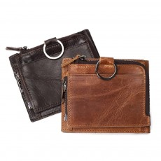 Detachable Wallet with Multi-cards, Wear-resistant First Layer Leather Purse for Men